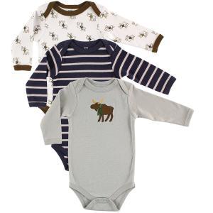 Hudson Baby Unisex 3 Pack Long Sleeve Bodysuits