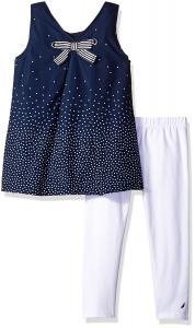 Nautica Girls' Printed Tunic with Capri Legging Set