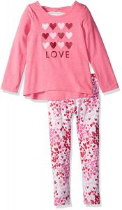 The Children's Place Girls' Her Li'l Printed Top and Legging Outfit Set