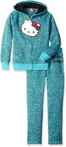 Hello Kitty Baby Girls' Fleece Active Set with Sequin Applique