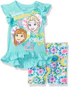 Disney Little Girls' Frozen Bike Short Set