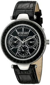 Versus by Versace Women's SOS020015 Sertie Multifunction Analog Display Quartz Black Watch