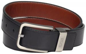 """Kenneth Cole REACTION Men's Brown Out 1.5"""" Leather Reversible Belt"""