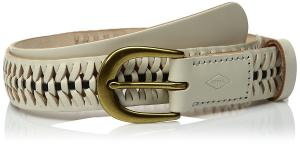 Fossil Women's Woven Novelty Belt Vanilla