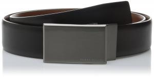 Perry Ellis Men's Portfolio Reversible Patterned Plaque Belt