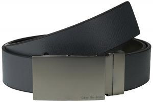 Calvin Klein Men's 38 mm Reversible Flat-Strap Leather Belt