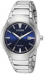 Citizen Men's 'Dress' Quartz Titanium and Stainless Steel Casual Watch, Color:Silver-Toned (Model: AW1550-50L)