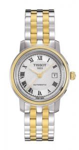 Tissot T-Classic Bridgeport Automatic Silver Dial Two-tone Ladies Watch T0452072203300
