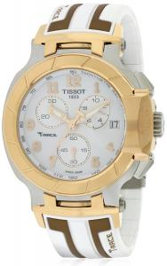 Tissot T-Race White Dial SS Silicone Chrono Quartz Men's Watch T0484172701200