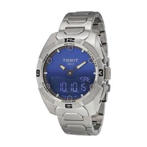 Tissot Unisex T0914204404100 Touch Collection Analog Swiss Quartz Automatic Titanium Silver Watch