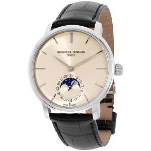 Frederique Constant Slimline Ivory Dial Leather Strap Men's Watch FC705BG4S6