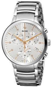Rado Men's R30122113 Centrix XL Chronograph Analog Display Swiss Quartz Silver Watch