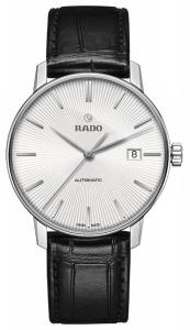 Rado R22860015 Coupole Leather Automatic Mens Watch - White Dial