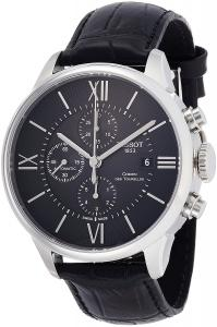 Tissot Men's 'T-Classic' Swiss Automatic Stainless Steel and Leather Casual Watch, Color:Black (Model: T0994271605800)