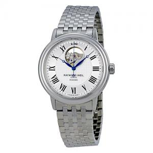 Raymond Weil Men's 'Maestro' Swiss Automatic Stainless Steel Dress Watch, Color:Silver-Toned (Model: 2827-ST-00659)