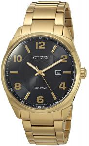 Citizen Men's 'Eco-Drive' Quartz Stainless Steel Casual Watch, Color:Gold-Toned (Model: BM7322-57E)