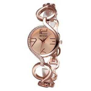 AIMES Luxury Ladies Gold Quartz Wristwatches Women Famous Brand Rhinestone Watches rose gold
