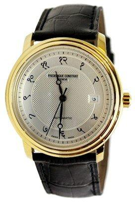 Frederique Constant Classic Automatic Silver Dial Brown Leather Mens Watch FC-303IC4P5