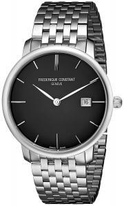 Frederique Constant Men's FC-306G4S6B Curved Index Black Dial Watch