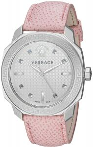 Versace Women's VQD010015 Dylos Analog Display Swiss Quartz Pink Watch