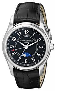 Frederique Constant Men's FC-330B6B6 Index Black Leather Strap Watch