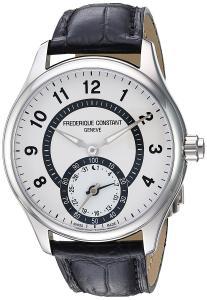 Frederique Constant Men's 'HSW' Swiss Quartz Stainless Steel and Leather Casual Watch, Color:Black (Model: FC-285SDG5B6)