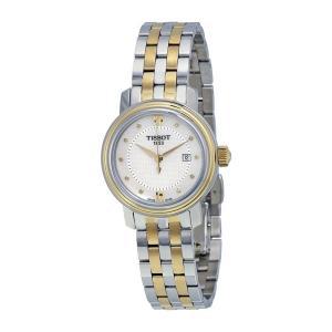 Tissot Bridgeport Quartz White Mother of Pearl Two-tone Ladies Watch T097.010.22.116.00