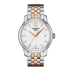 Tissot T063.210.22.037.01 Women's Watch Tradition Silver/Rose Gold 33mm Stainless Steel