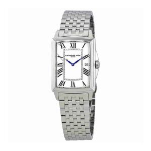 Raymond Weil Tradition White Dial Mens Stainless Steel Watch 5597-ST-00300