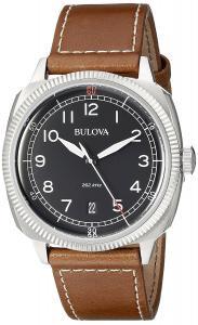 Bulova Men's 96B230 Military Analog Display Japanese Quartz Brown Watch