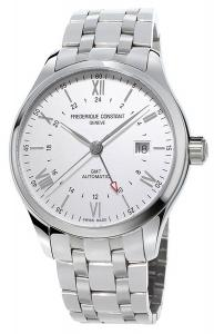 Frederique Constant Geneve Classics Index GMT FC-350S5B6B Automatic Mens Watch Second Time Zone