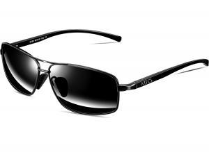 ATTCL Men's Sunglasses Rectangular Driving Polarized Al-Mg metal Frame Superlight