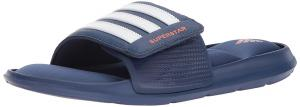 Adidas Men's Superstar 5G Slide Sandal, Noble Indigo/Orange/White, 18 M US