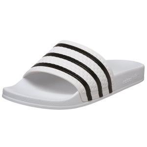 adidas Men's Adilette Sport Slide,White/Black,7 D(M) US