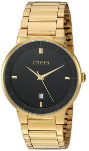 Đồng hồ Citizen Men's Goldtone Black Dial Watch