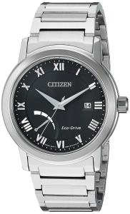 Đồng hồ Citizen Men's 'Eco-Drive Dress' Quartz Stainless Steel Casual Watch, Color Silver-Toned (Model: AW7020-51E)