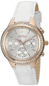 Đồng hồ Caravelle New York Women's 44L214 Analog Display Quartz White Watch