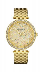 Đồng hồ Caravelle New York Women's 44L184 Swarovski Crystal Gold Tone Watch
