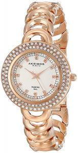 Đồng hồ Akribos XXIV Amazon Exclusive Women's AK804RG Diamond-Accented Rose Gold-Tone Watch