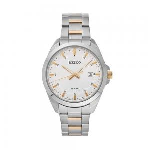 Đồng hồ Seiko SUR211 Men's Silver Dial Stainless Steel Watch with Date