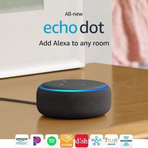 All-new Echo Dot (3rd Gen) - Smart speaker with Alexa - Charcoal