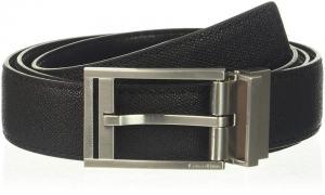 Dây lưng Calvin Klein Men's 32mm Reversible Pressed Edge Stitch Strap 75504-BLK