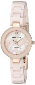 Đồng hồ Anne Klein Women's AK/2660LPRG Diamond-Accented Rose Gold-Tone and Light Pink Ceramic Bracelet Watch