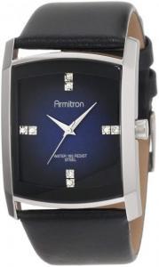 Đồng hồ Armitron Men's 20/4604DBSVBK Crystal Accented Gray Degrade Black Leather Strap Watch
