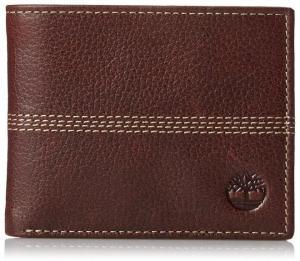 Timberland Men's Sportz Quad Leather Passcase Wallet  Brown