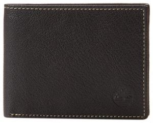 Timberland Men's Leather Wallet with Attached Flip Pocket Black Blix