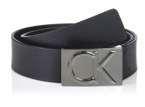Dây lưng Calvin Klein Men's 38mm Flat Strap Smooth, Matte Leather Belt75452-BLK