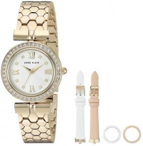 Đồng hồ Anne Klein Women's AK/3140INST Swarovski Crystal Interchangeable Bezel and Strap Set