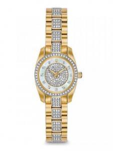 Đồng hồ Bulova Women's 'Swarovski Crystal' Quartz Stainless Steel Casual Watch, Color:Two Tone (Model: 98L241)