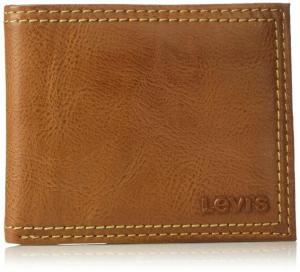Ví nam Levi's Men's Slim Bifold Wallet - Genuine Leather Casual Thin Slimfold with Extra Capacity and ID Window